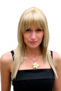 Damenperücke blond stark gestuft Pony lang Haarersatz ca. 55 cm 9214-234