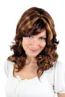 Perücke rotbraun blonde Strähnen leicht gewellte Haare SA-432-35/1b/2-4 35cm NEU