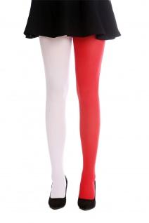 Strumpfhose Pantyhose Damenkostüm Karneval Halloween rot weiß S/M WZ-013WR