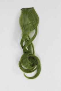 1 Clip Extension Strähne Haarverlängerung wellig Olivgrün 45cm YZF-P1C18-T2609
