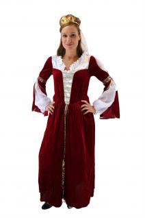 Aufwändiges Kostüm Damen Königin Prinzessin Adelsdame Adelige Mittelalter K43