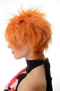 Damenperücke Perücke kurz toupiert wilde Strähnen 80er Wave Punk Orange BLUE144 - Vorschau 2