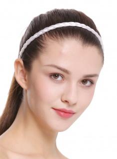 Haarband Haarreif geflochten Tracht traditionell weiß braid CXT-009-138
