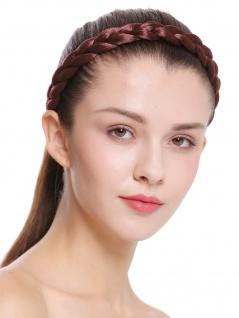 Haarband Haarreif geflochten Tracht traditionell rotbraun braid CXT-007-130