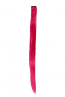 1 Clip Extension Strähne Haarverlängerung glatt Purpurrot 63cm YZF-P1S25-T2314