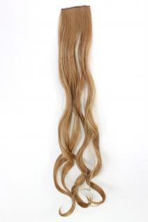 2 Clips Extension Strähne wellig Blond YZF-P2C25-22 65cm Haarverlängerung