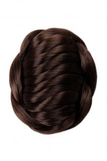 Haarknoten Dutt Haarteil aufwendig geflochten Tracht Hochzeit braun TYD-0022-6