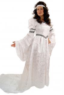 Kostüm Jaquard KLEID Märchen Mittelalter Gothic Romantik weiß K22