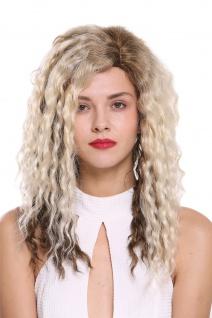 Damenperücke Perücke Seitenscheitel Afro Krepplocken gelockt Braun Platin Blond