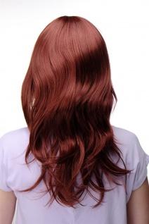 Damenperücke lang Perücke Rot Kupferrot Pony Scheitel frisierbar gestuft 4038 - Vorschau 4