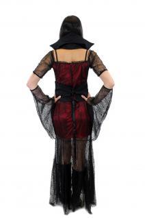 Aufwändig & Sexy Kostüm Kleid Böse Hexe Vampirin Gothic Vamp Witch Märchen L007 - Vorschau 3