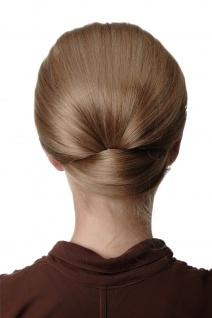 Dutt Haarknoten breit Halbperücke Haaraufsatz 50er 60er Turmfrisur Dunkelblond