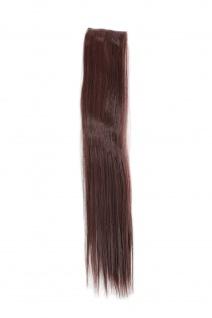 2 Clips Strähne glatt Dunkel-Mahagoni-Braun YZF-P2S18-33 45cm Haarverlängerung