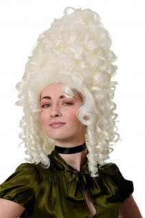 WIG ME UP Qualitätsperücke Perücke Rokoko Barock turmhoch weiß weißblond GFW1650