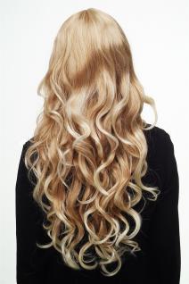 Damen Perücke Blondmix Locken Wellig Lang Seitenscheitel ca. 70 cm 9204S-15BT613 - Vorschau 4