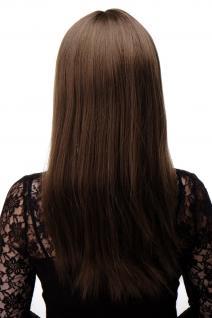 Bezaubernde Perücke Braun Mittel-Goldbraun glatte Haare Pony ca. 55cm 3280-10 - Vorschau 4