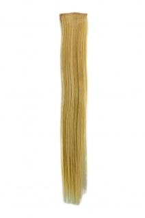 2 Clips Extension Strähne glatt Hell-Blond YZF-P2S18-88 45cm Haarverlängerung