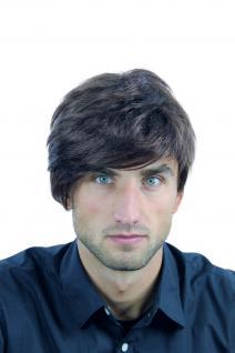 Perücke Herrenperücke Männer braun rotbraun volles Haar gescheitelt WL-2362-4/33