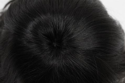 100% Echthaar: Elegante schulterlange Damenperücke in Schwarzbraun 81095QHH-2 - Vorschau 4