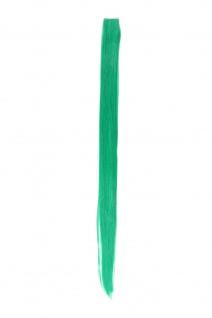 1 Clip Extension Strähne Haarverlängerung glatt Blaugrün 63cm YZF-P1S25-T2608
