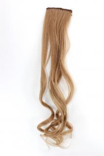 2 Clips Extension Strähne wellig Blond YZF-P2C18-18 45cm Haarverlängerung