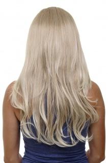 Clip-in Haarteil 7 Klammern 3/4 Perücke Halbperücke Blond Mix 60cm H9505-15BT613