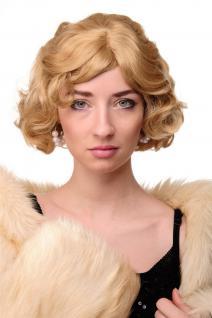 Damen Perücke 20er Jahre Swing Bob gewellt Perücke Blond ca. 25 cm A4002-611B