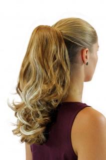 Haarteil Zopf gewellt 40cm Butterfly-Klammer Blond-Mix gesträhnt JL-0058-26H613
