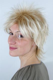 Perücke blond gesträhnt Kurzhaarschnitt 80er Jahre Vokuhila Pop NDW 26155-27T88