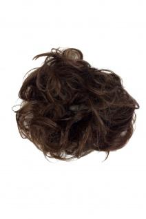 Haarteil: Kunsthaar Scrunchy Haarband Haargummi Pferdeschwanz Braun YZF-3054A-10