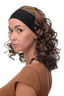 Damenperücke Perücke Stirnband voluminös Locken Braun Mittelbraun BRO-704-12