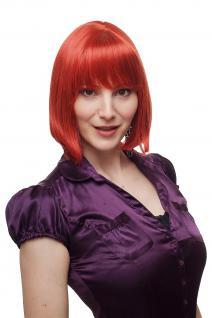 Damen Perücke wig sexy roter Bob/Page langer Pony kurz Haarersatz 25 cm 2212-137