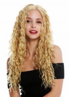 Perücke Damenperücke Lace-Front Teil-Mono Scheitel lang Locken Blond Rotblond
