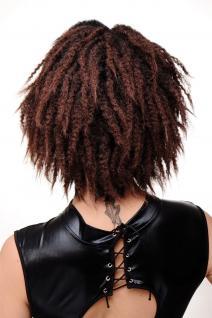 Damenperücke Perücke Karibik Afro Schwarz Mahagoni Krepplocken Volumen GFW1836 - Vorschau 3