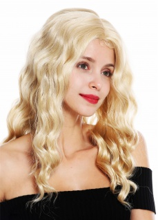 Perücke Damenperücke lang wellig gewellt Mittelscheitel Blond Mix VK-9