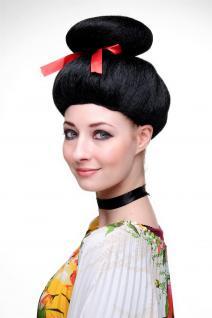Karneval Fasching Perücke Geisha Asia Japan Cosplay China Girl Schwarz 2120-P103 - Vorschau 3