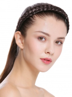 Haarband Haarreif geflochten Tracht traditionell dunkelbraun braid CXT-002-004