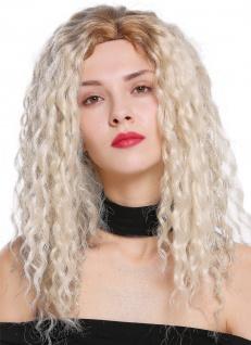 Damenperücke Perücke Seitenscheitel Afro Krepplocken gelockt Ombre Blond Mix
