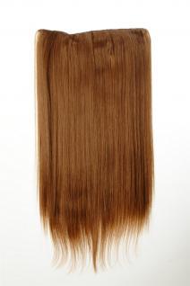 Haarteil Haarverlängerung breit 5 Clips dicht glatt Erdbeerblond 60 cm L30172-27