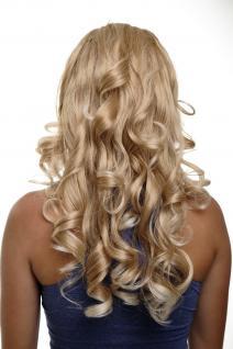 Clip-in Haarteil mit 7 Klammern 3/4 Perücke Halbperücke Blond-Mix H9503-27T88