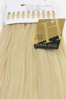 Echthaar Extensions Set 100x 1g Strähnen Keratin Bondings 49cm Blond 18HH-1G-613