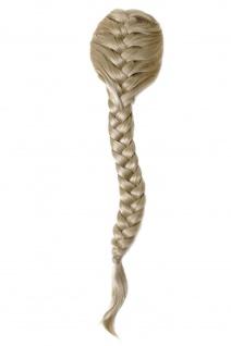 Haarteil geflochtener Zopf Pferdeschwanz sehr lang Kämme Rapunzel Tracht blond