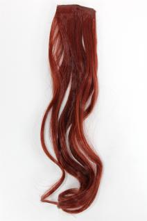2 Clips Extension Strähne wellig Rot YZF-P2C18-35 45cm Haarverlängerung