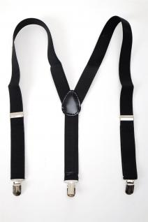DRESS ME UP - Halloween Karneval Hosenträger Suspenders Schwarz W-061B-black