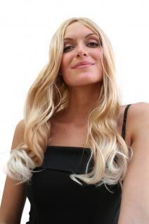Perücke Damenperücke blond lang platinblonde Spitzen Mittelscheitel Karneval