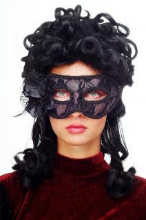 Karneval Venezianische Maske Halbmaske Domino Schwarz Maskenball Gothic LS-004 - Vorschau 1