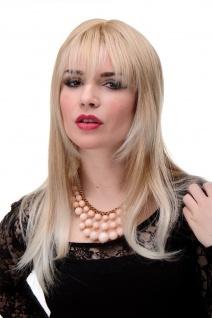 Perücke Blond Erdbeerblond-Platinblond glatte Haare Pony ca. 55cm 3280-27T613