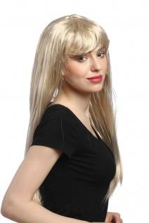 Perücke Damen Karneval Fasching lang glatt Pony Blond Hellblond Goldmarie 60 cm - Vorschau 4