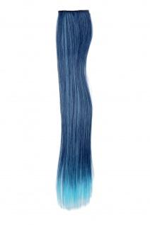 2 CLIP Extension Strähne Haarverlängerung Blau glatt 45cm YZF-P2S18-T4027TTF2513