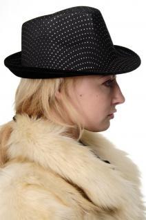 Karneval Damen Herren Hut Fedora Gangster Chicago Pimp schwarz VJ-042-black - Vorschau 2